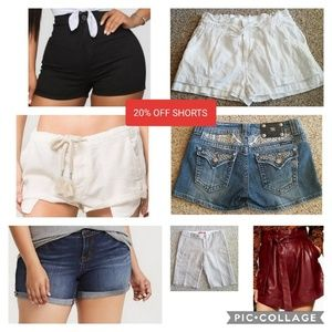 SHORTS SALE! 20% off listed price, men's too